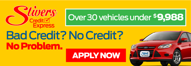 Click here for StiversFordCreditExpress.com. Iowa's #1 Ford Lincoln dealer in iowa. Click here to fill out a simple and easy credit application