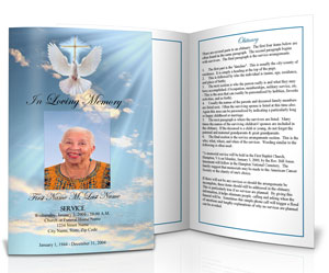 Perfect Funeral Program Design U0026 Ideas For Memorial Pamphlet Template Free